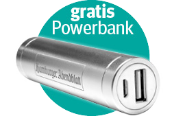 3 Monate nur 5,90 € mtl. + gratis Powerbank!