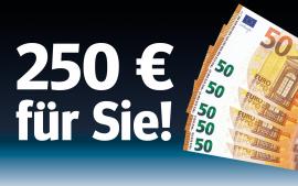 Lesen und bis zu 250 € sichern!