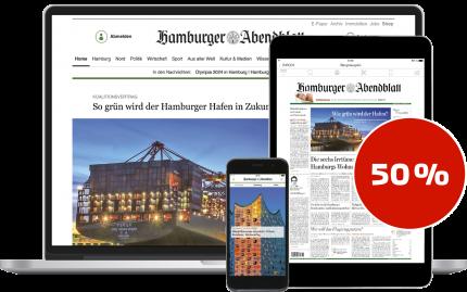 6 Monate  Hamburger Abendblatt im Digital-Paket